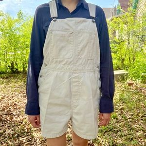 OLD NAVY button short overalls vintage (SIZE M)